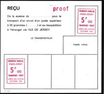 """France Grève N°  5 F  Rouge   """"du Courrier Familial""""  Essai Sur Reçu - Strike Stamps"""