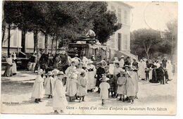 Giens : Arrivée D'un Convoi D'enfants Au Sanatorium Renée Sabran - Autres Communes