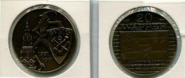 Token - 1981 Antwerpen - 20 Wapper - BVMG  Beroepsvereniging Van Meester Graveurs - Nr 107a - Brons Gepatineerd - Gemeindemünzmarken