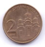 SERBIA 2018: 2 Dinara, KM 55 - Serbia