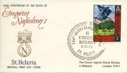 FDC Napoleon - St. Helena 1971 - Napoleone