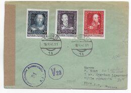 AUTRICHE - 1948 - ENVELOPPE Avec CENSUREde WIEN => NICE - 1945-60 Brieven