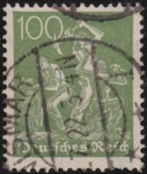 Deutsches Reich  .  Michel .   187  (2 Scans)  Wafflen     .      O    .     Gebraucht  .   /   .  Cancelled - Used Stamps