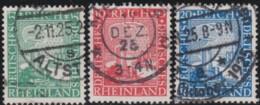 Deutsches Reich     .    Michel   .   372/374      .      O      .       Gebraucht  .   /   .  Cancelled - Oblitérés