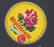Ancienne étiquette Fromage Autriche Fleur - Kaas
