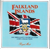 FALKLAND ISLANDS 1987 Annual Coin Collection: Set Of 7 Coins (in Pack) BRILLIANT UNCIRCULATED - Falklandinseln