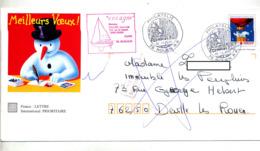Pap Croix Rouge  Cachet Rouen Philatelie + Retour + Flamme Muette Deville - Prêts-à-poster:  Autres (1995-...)