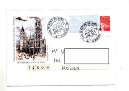Pap Luquet Cachet Rouen Marche Noel Illustré Cathedrale - Prêts-à-poster: Repiquages /Luquet