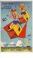Carte à Système - OUISTREHAM - Vole ! Vole ! Dans Le Cerf-volant ... Vous Verrez RIVA-BELLA - Ouistreham