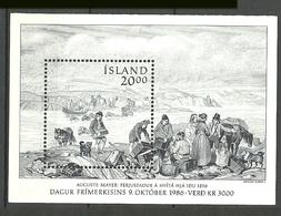 Iceland 1986 Stamps Day Mi Bloc 7, MNH(**) - 1944-... Republic
