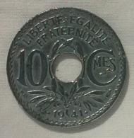 10 Centimes 1941, 3 Ième République. Tiret Sous MES. TB. - D. 10 Centesimi