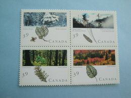 Canada 1990 Yv 1153/6 ** MNH - Forêts Canadiennes - Cote 5.00 € - Scott 1286a Michel 1191/4 SG 1394/7 - Nuovi