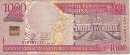 BILLETE DE REP. DOMINICANA DE 1000 PESOS ORO DEL AÑO 2011 SERIE EY (BANKNOTE) - República Dominicana