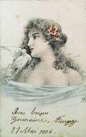 Illustration   Style   M M  Vienne  Lfemme  Colombe  1906 - Vienne