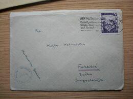 Salzburg  Militar Censorship CivilMails Camp Marcus W Orr Comp III 1 KP 1947 To Feketic Jugoslavija - 1945-60 Covers