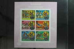 Zentralafrikanische Republik 726 B B-731B B ** Postfrisch Als Kleinbogen #UR171 - Olympic Games