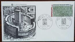 FDC 1975 - YT N°1832 - ARPHILA / EXPOSITION PHILATELIQUE - PARIS - 1970-1979