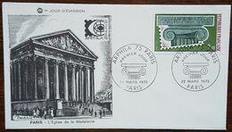FDC 1975 - YT N°1831 - ARPHILA'75 / EXPOSITION PHILATELIQUE - PARIS - 1970-1979