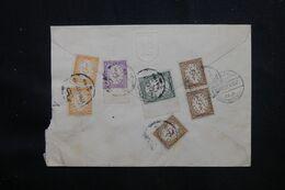 EGYPTE - Enveloppe En Recommandé Pour Paris Par Avion En 1951, Affranchissement Recto / Verso ( Service ) - L 69473 - Cartas