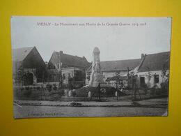 Carte Postale Viesly Le Monuments Aux Morts De La Grande Guerre 1914-1918, Inédite, Photo A.CANON............CP10 - Sonstige Gemeinden