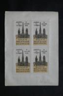 FRANCE  - 2 Blocs De 4 Vignettes Collés Dos à Dos De La JDT De Rouen En 1938 , Neuf Et Oblitéré - L 69487 - Expositions Philatéliques