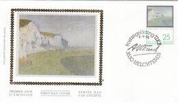 B01-179 2417  FDC Soie  Peintre Et Céramiste Alfred Wilhelm Finch (1854-1930) 7-9-1991 3530 Helchteren €3 - 1991-00