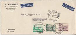 Libanon - 30 P. Flugpostausgabe U.a. Luftpost Einschreibebrief Beyrouth 1961 - Lebanon
