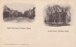 PRINCETON , Illinois , 1900-10s ; South Main Street & Lincoln School - Altri