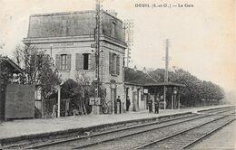 95 DEUIL - La Gare - Intérieur - Animée - Deuil La Barre