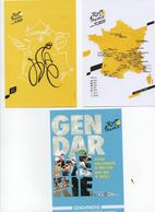 CYCLISME   Tour De France 2020 3 CARTES DOCAPOST ET GENDARMERIE - Ciclismo