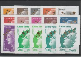 France Année 2012 15 Maxi-mariannes 4662A-Q - Unused Stamps