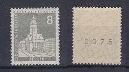 Berlin 143 Wv EZM Mit Ungerader Nummer Berliner Stadtbilder 8 Pf Postfrisch  - Francobolli In Bobina