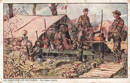 Guerre 1914 1918 Porteur De Gourdes Militaire Illustration Illustrateur Armée Belge - Guerre 1914-18