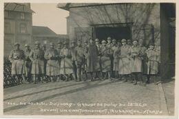 Photo Originale : Militaires - Photo Groupe - DUISBORG 28e B.C.A. (1921) (16 Cm X 11 Cm) (BP) - War, Military