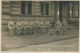 Photo Originale : Militaires - Garde Française Du Rathaus - DUSSELDORF 97e R.I.A. (1921) (16 Cm X 11 Cm) (BP) - War, Military