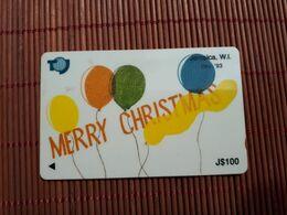 Jamaica Phonecard Merry Christmas  100 $ Control Number 16 JAMC Used Rare - Giamaica