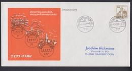 Ganzsache Berlin 30 Pf. Stempel 7.7.77 - 7 Uhr  Postleitzahl 77 Singen - Zonder Classificatie