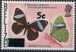 1977 BELIZE 374**  Papillon Surchargé - Belize (1973-...)