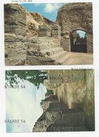 2 CPM - CHASSENON (16) ANTIQUE CASSINOMAGUS Thermes Du Sanctuaire : Une Des Salles De Chauffe, Enfilade De Portes - Sonstige Gemeinden
