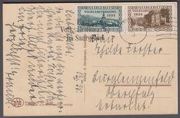 1935. Saar. 25 C. + 40 C. Heute Volksabstimmung Im Saargebiet SAARBRÜCKEN 13. 1. 35. ... (MICHEL 182+) - JF365345 - Covers & Documents