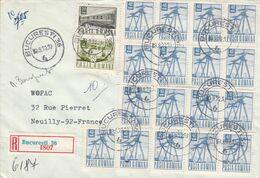 ROUMANIE AFFRANCHISSEMENT COMPOSE SUR LETTRE RECOMMANDEE  POUR LA FRANCE 1972 - Covers & Documents