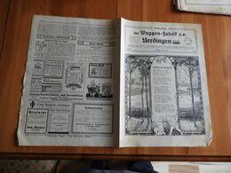 Werkzeitung Der Waggon-Fabrik A.G Uerdingen/Rhein 1928 - Hobby & Verzamelen