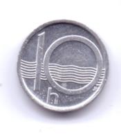 CESKA REPUBLIKA 2002: 10 Haleru, KM 6 - Repubblica Ceca