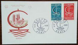 FDC 1966 - YT N°1490, 1491 - EUROPA - PARIS - 1960-1969