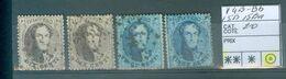 14B, 14Bb 15B 15 Ba Oblitéré  Côte 20€ - 1863-1864 Medallones (13/16)