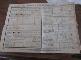 Lettre De Voiture Oblitérée FLEMALLE-HAUTE FACTAGE En 1941 + GROSSE GRIFFE Idem Pour Andenne-Seilles (Nord Belge) - Noord-België
