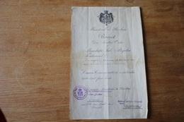 Diplôme Médaille Roumaine 1916 1918  Pour Marsouin Du 4 Eme Régiment 'infanterie Colonial - 1914-18