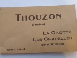 THOUZON VAUCLUSE CARNET GROTTE CHAPELLES   LE THOR 10 CARTES  EDITEUR CHALLE - France