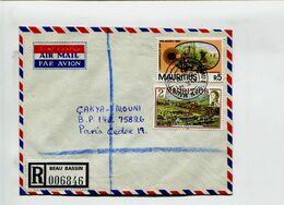 ILE MAURICE - Affranchissement Pour Lettre Recommandée Pour La France - BEAU BASSIN 1983 - Maurice (1968-...)