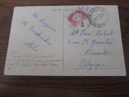 Carte Postale En S.M. (pliée 3X!) Oblitérée BPS 11 En 1957 Et TAXEE à BXL Par Le TX N° 57 (1,60frs). Remarque Judicieuse - Correo Militar